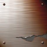 Placa de acero agrietada Fotografía de archivo libre de regalías