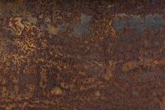 Placa de acero aherrumbrada Fotografía de archivo