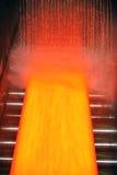 Placa de acero caliente de enfriamiento foto de archivo
