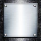 Placa de acero cepillada stock de ilustración