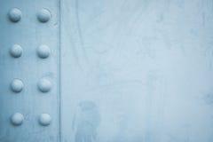 Placa de acero con los botones circulares Imagen de archivo libre de regalías