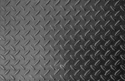 Placa de acero de la pisada/textura Checkered de la placa Foto de archivo libre de regalías