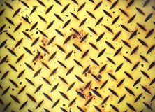 Placa de acero pintada amarillo del inspector del diamante Fotos de archivo