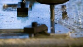 Placa de alumínio de trituração do CNC video estoque