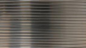Placa de aluminio con el surco cuadrado stock de ilustración