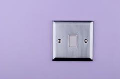 Placa de aluminio del interruptor en la pared Foto de archivo libre de regalías