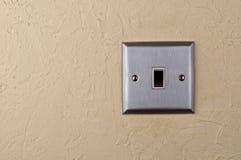 Placa de aluminio del interruptor en la pared Fotografía de archivo libre de regalías