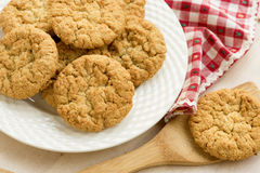 Placa de Anzac Biscuits Foto de Stock