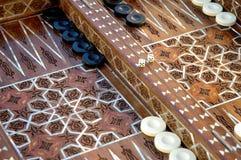 Placa de backgammon embutida original Imagens de Stock
