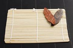 Placa de bambu Fotos de Stock Royalty Free