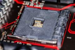 Placa de base do computador para a unidade do processador central Imagens de Stock Royalty Free