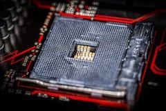 Placa de base do computador para a unidade do processador central Fotografia de Stock
