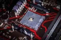 Placa de base do computador para a unidade do processador central Fotos de Stock Royalty Free