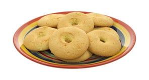 Placa de biscoitos duros dos biscoitos portugueses Foto de Stock Royalty Free