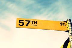 57.a placa de calle Imagen de archivo libre de regalías