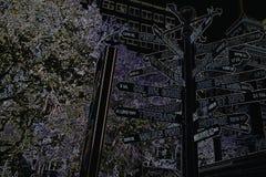 Placa de calle Fotos de archivo