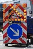 Placa de calle alemana Imágenes de archivo libres de regalías