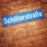 Placa de calle alemana Fotos de archivo