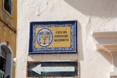 Placa de calle antigua Fotografía de archivo libre de regalías