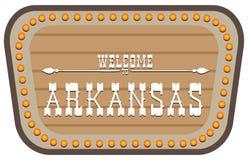Placa de calle Arkansas del vintage Imagen de archivo