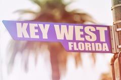 Placa de calle de Key West la Florida Imagenes de archivo