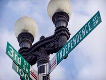 Avenida de la independencia imagen de archivo