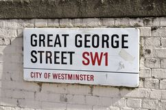 Placa de calle de Londres Imagen de archivo libre de regalías