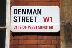 Placa de calle de Londres Foto de archivo libre de regalías