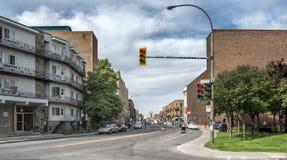 Placa de calle de Montreal imagen de archivo