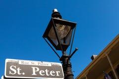 Placa de calle de San Pedro Fotos de archivo