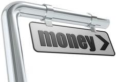 Placa de calle del dinero Imagen de archivo libre de regalías