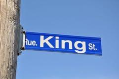 Placa de calle del rey Imagen de archivo libre de regalías