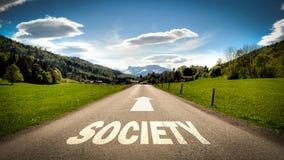 Placa de calle a la sociedad ilustración del vector