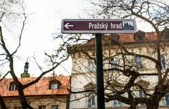Placa de calle de Praga Foto de archivo libre de regalías