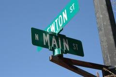 Placa de calle principal del St Fotografía de archivo libre de regalías