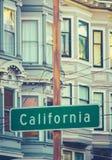 Placa de calle retra de California Imagenes de archivo