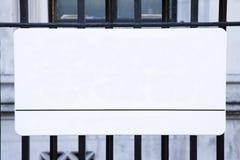 Placa de calle vacía, Londres Imagen de archivo libre de regalías