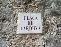 Placa de Cartoixa in Valldemossa lizenzfreie stockfotos