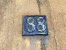 placa de 88 casas Fotos de archivo libres de regalías