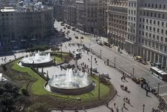 Placa de Catalunya. Βαρκελώνη. Ισπανία Στοκ Φωτογραφίες