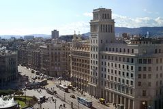 Placa de Catalunya. Βαρκελώνη. Ισπανία Στοκ Εικόνα