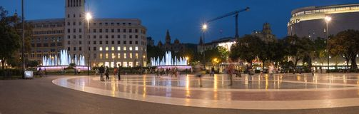 Placa de Catalunya Барселона Стоковое фото RF