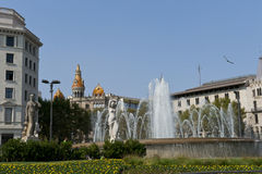 Placa de catalunya Stock Photos