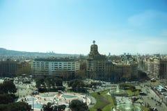 Placa de Catalunya. Aerial view on Placa de Catalunya, Barcelona. Spain royalty free stock images