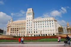 Placa de Catalunya, Barcellona Immagini Stock Libere da Diritti