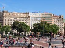 Placa de Catalunya, Barcelona Royalty Free Stock Photography