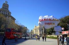 Placa de Catalunya,Barcelona Stock Photos