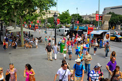 Placa de catalunya in barcelona spain. A shot of catalunya plaza in barcelona spain Stock Photography