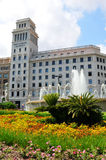 Placa de Catalunya in Barcelona, Spain Stock Photography