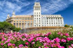 Placa de Catalunya in Barcelona Royalty Free Stock Photos